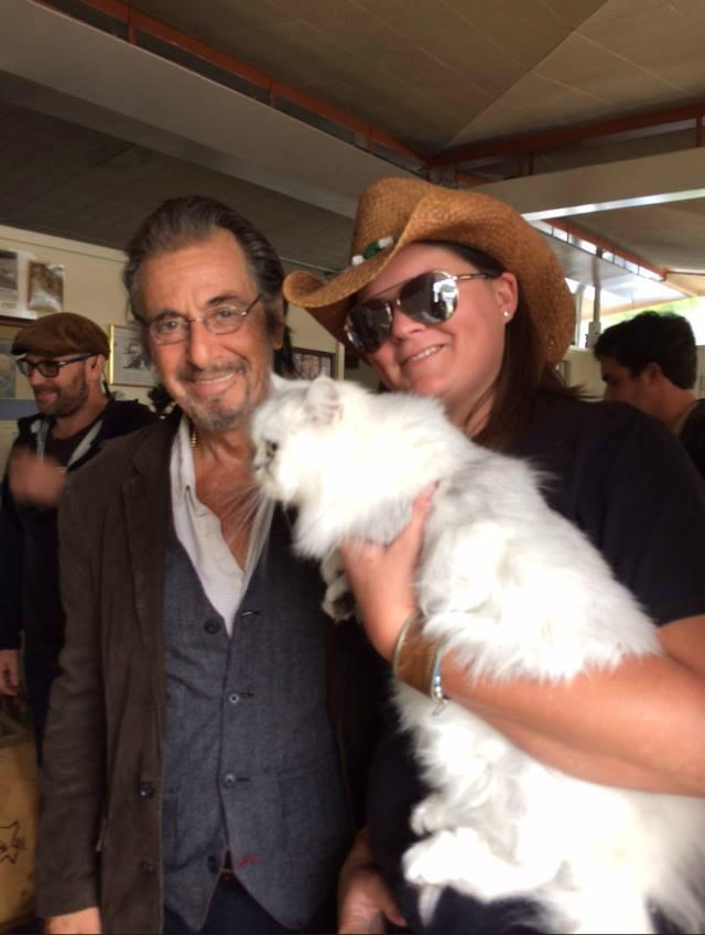 Cinderella on set with Al Pacino!