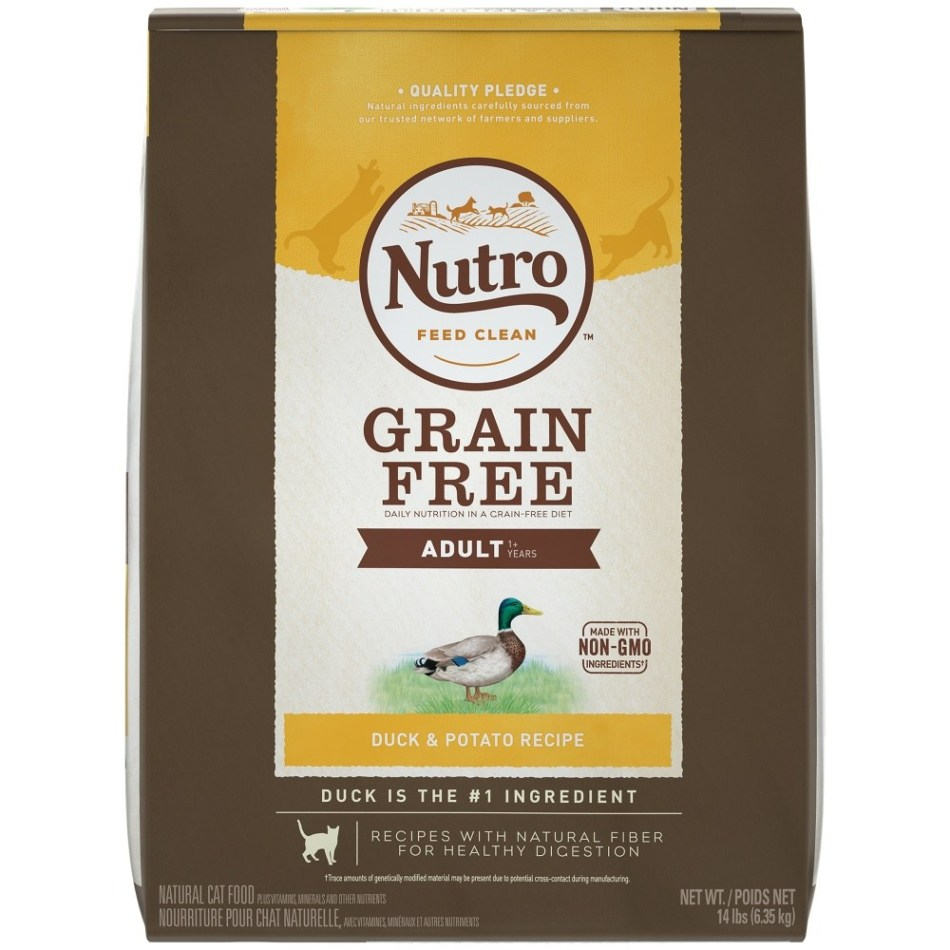 Nutro Grain Free Adult Duck & Potato Dry Cat Food